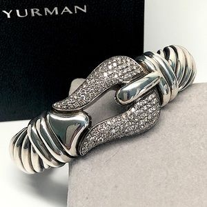 David Yurman Diamond Buckle 15mm Cable Bracelet